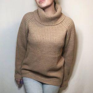 Suzy Shier cosy caramel chunky knit sweater